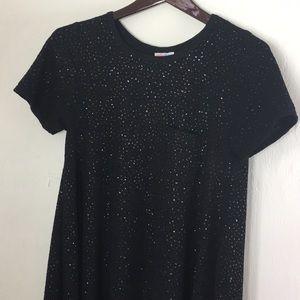 LuLaRoe Black Glitter Elegant Carly XS